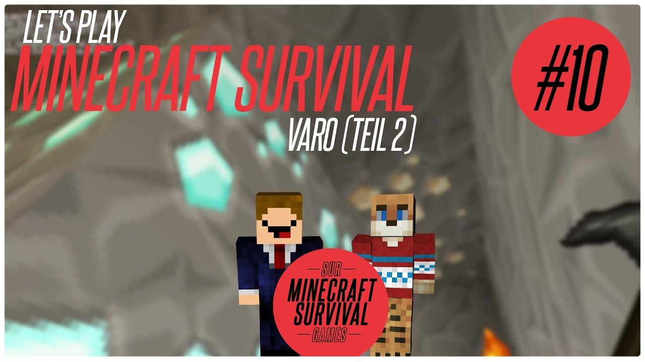 MINECRAFT VAROGAMES TEIL Lets Play Minecraft Survival - Minecraft varo spiele