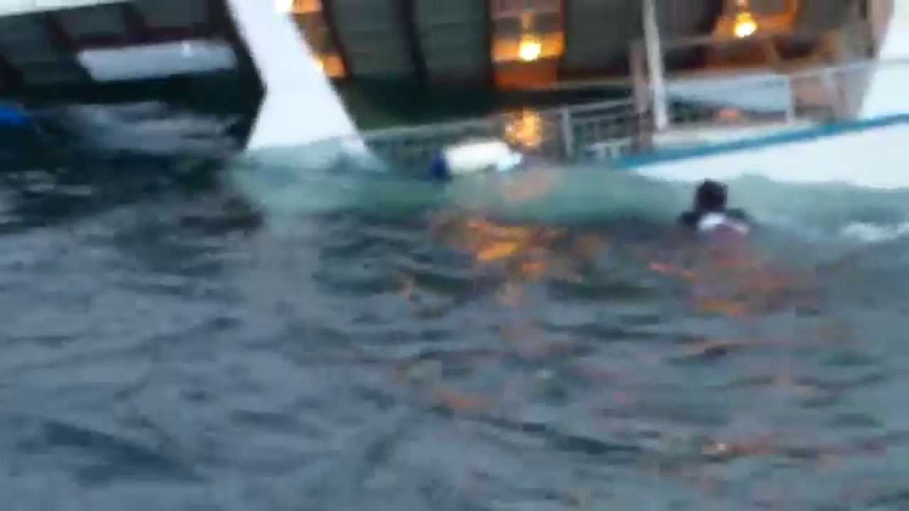 Sharks Attack Man Off Sinking Boat Youtube