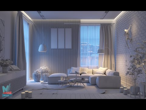Interior Night Lighting With V-Ray HDRI