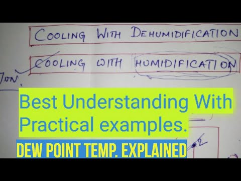 Psychrometry process-2(Cooling with humidification and dehumidification- best understanding.)