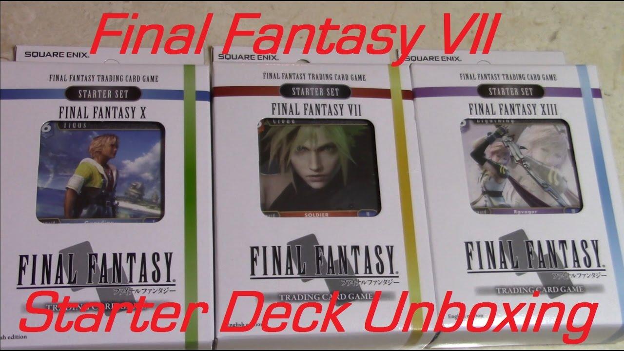 Final Fantasy Trading Card Game - Starter Deck Unboxing & Spoiler ...