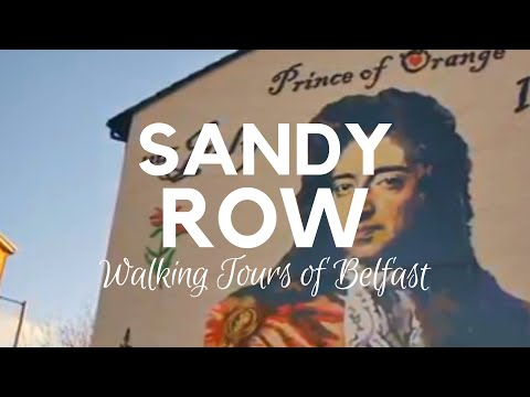 SANDY ROW BELFAST - King Billy Mural-Well visited by the Walking Tours of Belfast