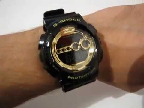 b5f9cc753 CASIO G-Shock GD-100GB-1 - black/gold digital watch - YouTube