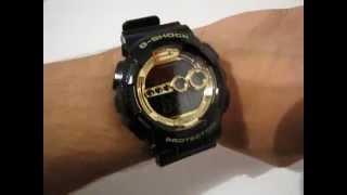 CASIO G-Shock GD-100GB-1 - black/gold digital watch