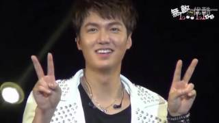 130728 Lee Min Ho doing Gwiyomi - My Everything Global Tour in Shanghai