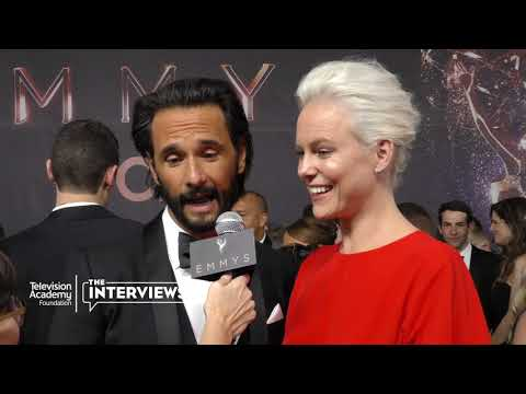 Rodrigo Santoro and Ingrid Bolso Berdal on what they like about Westworld  2017 Primetime Emmys
