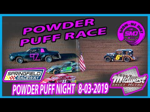 S03 E369 POWDER PUFF RACE- POWDER PUFF NIGHT Springfield Raceway 08-03-2019