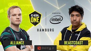 Dota2 - beastcoast vs. Alliance - Game 2 - Group A - ESL One Hamburg 2019