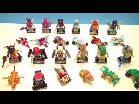KRE-O TRANSFORMERS MICROCHANGERS WAVE 4 FULL COLLECTION BUILD TOY REVIEW VIDEO