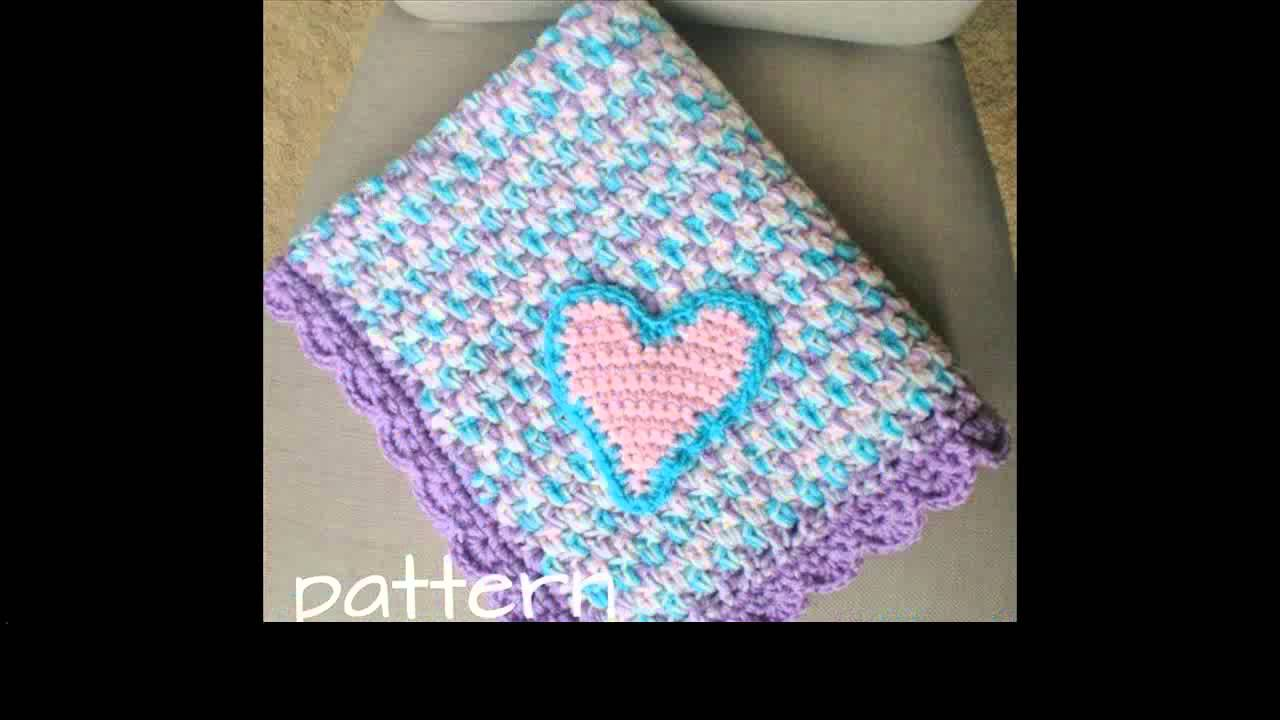 crochet baby blanket with bernat yarn - YouTube