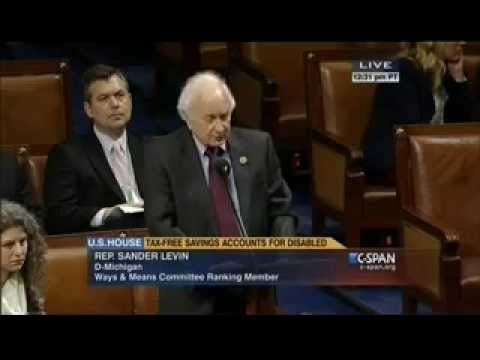 Ranking Member Sander Levin Floor Statement on H.R. 647, the ABLE Act