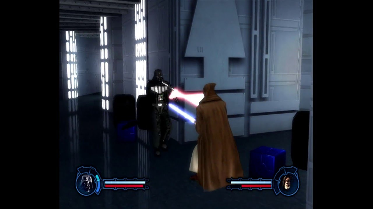Star Wars Episode 3 Revenge Of The Sith The Video Game Darth Vader Vs Obi Wan Kenobi Youtube