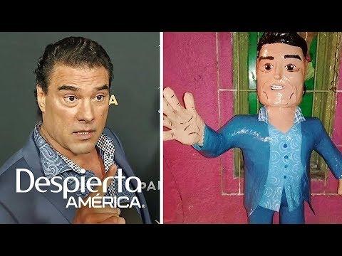 La piñata de Eduardo Yáñez dando una cachetada causa furor en internet