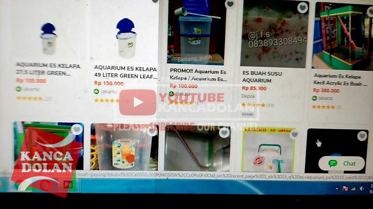 Toko Penjual Aquarium Es Untuk Usaha Es Buah Kekinian Dan Es Kelapa Aneka Rasa