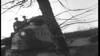 Renault FT tank capabilities being demonstrated for American Expeditionary Forces...HD Stock Footage