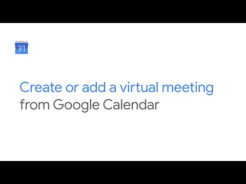 Create or add video meeting from Google Calendar