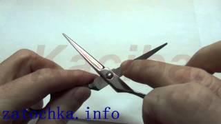 видео Угол заточки ножниц и правила работы с инструментом