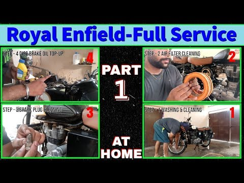 Royal Enfield Full Service At HOME - PART 1