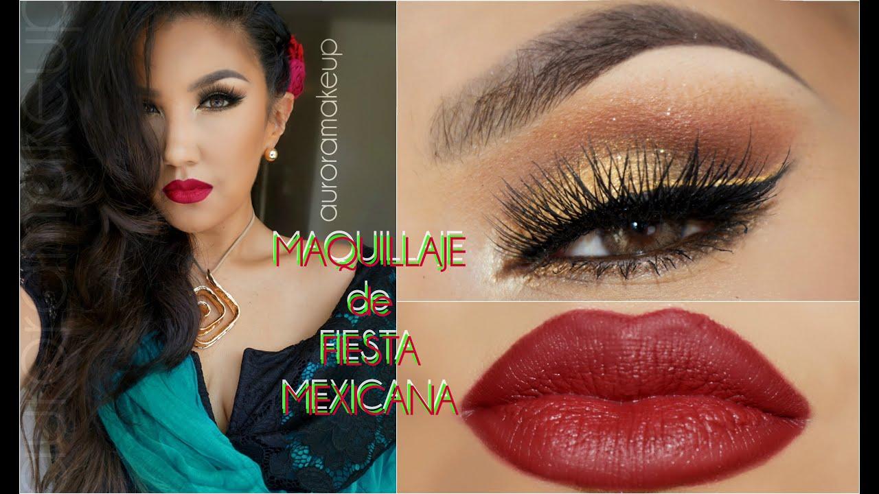 Maquillaje De Fiesta Mexicana / Mexican Party Makeup | Auroramakeup - YouTube