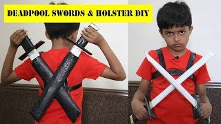 How to make Deadpool Swords with Newspapers | Easy Deadpool Katana and Holster DIY | Paper Swords