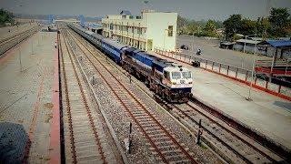 Train Actions at Tezpur's new BG railway station: Dekargaon | Two passenger trains and a WDP4D thumbnail