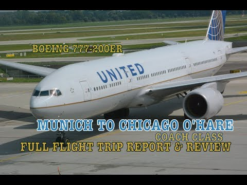 #50: UNITED BOEING 777-200ER | FULL FLIGHT TRIP REPORT | Munich to Chicago O'Hare