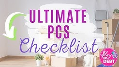 The Ultimate PCS Checklist  Things To Know Before You Move  Military PCS Tips