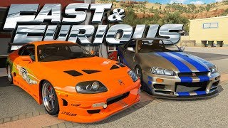 Forza Horizon 3 Online - Fast & Furious - Toyota Supra & Nissan GT-R R34 (Ft. FTHY)