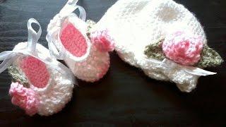 Tutorial-Crochet baby ballet booties (Pa...