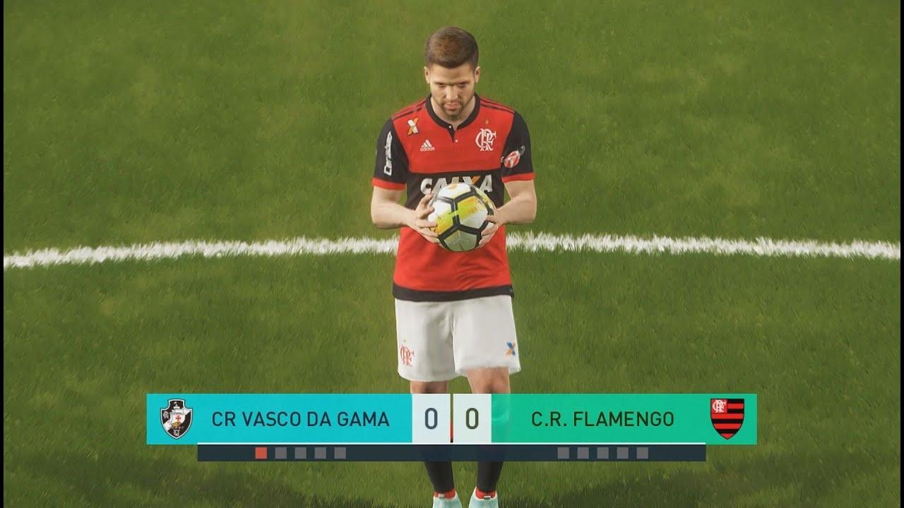 PES 18 - Vasco da Gama x Flamengo - Estádio São Januário -  PC Ultrawide   Ultra Settings 60fps   d428c4f6eb288