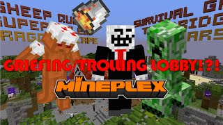 GRIEFING THE MINEPLEX SERVER LOBBY!?! FORCE OP HACK!?!