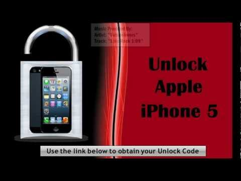 iphone 5 how to unlock a apple iphone 5 at t gsm at t t mobile cell phone video youtube. Black Bedroom Furniture Sets. Home Design Ideas