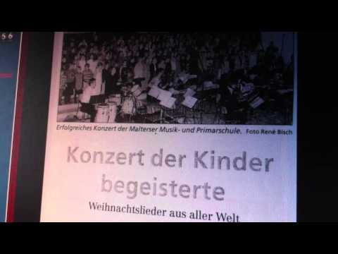 White Christmas  Navidad Malters Panflötenorchester Musikschule und Chor Primarschule 1996