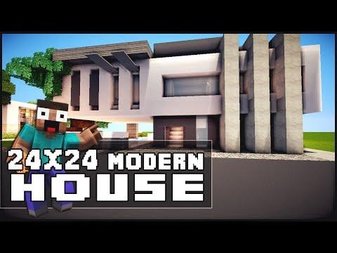 Minecraft House Tutorial: 24x24 Modern House