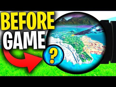 Can You SEE The STORM BEFORE The Game Begins With A STORM SCOUT Sniper Rifle?   Fortnite Mythbusters