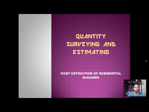 Estimation of a residential building | Quantity surveying