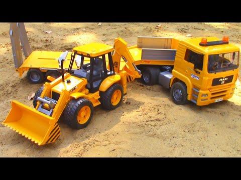 Экскаватор помогает машинкам в песке - Игры для детей | Tiki Taki Boys