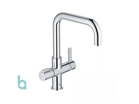 Grohe Red U 3-in-1 Boiling Water Kitchen Tap in Chrome (30153000 ...