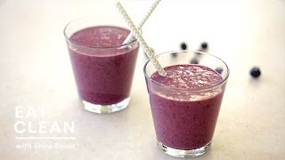 Blueberry-almond Butter Smoothie - Eat Clean With Shira Bocar
