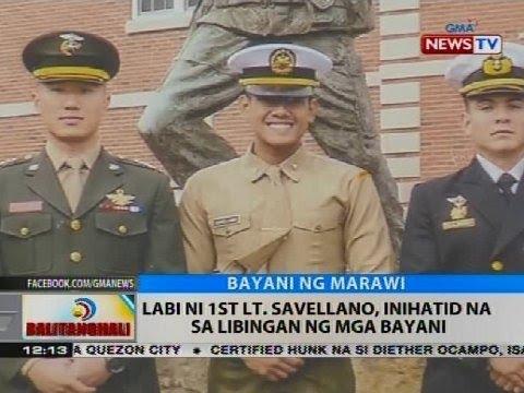 Labi ni 1st Lt. Savellano, inihatid na sa Libingan ng mga Bayani