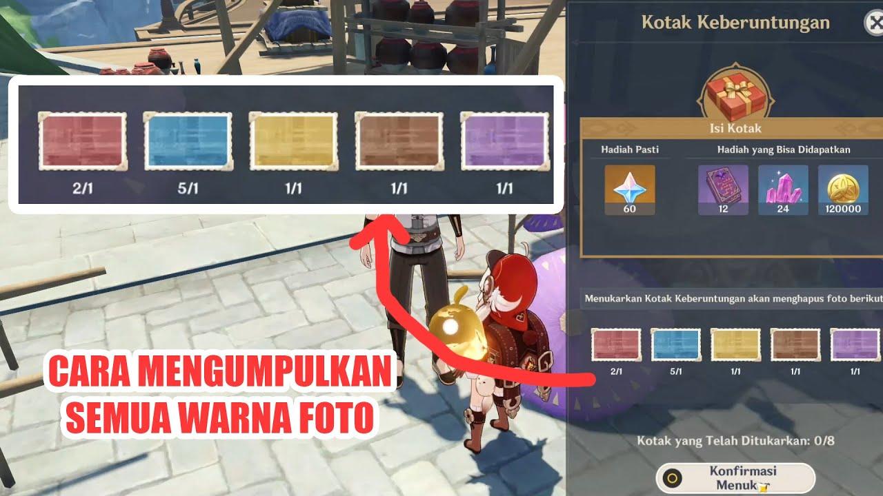 Event Foto Genshin Impact Update 1.3 - Cara Mengumpulkan Semua warna foto