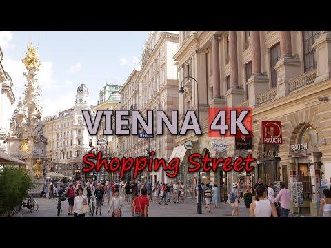 Ultra HD 4K Vienna Travel Lifestyle Shopping Street German Tourism Tourist Sight Video Stock Footage