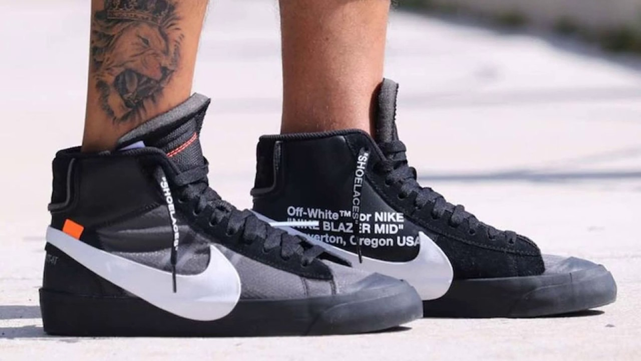 "35b306a38746 Off-White X Nike Blazer Mid ""Grim Reaper"" - YouTube"