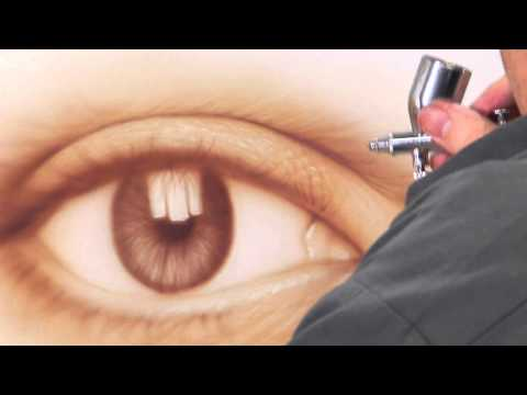 AIRBRUSH SPECIAL: FREE! HOW TO AIRBRUSH AN EYE, STEP-BY-STEP with JAVIER SOTO