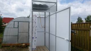видео Душевая кабина для дачи