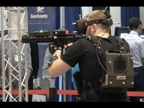 Virtual Reality military & police training simulator by Motion Reality @ I/ITSEC 2015