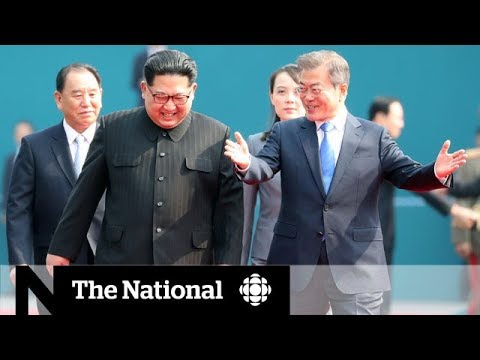 Kim Jong-un crosses DMZ, welcomed by South Korea