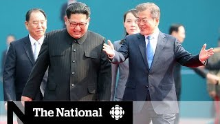 Video Kim Jong-un crosses DMZ, welcomed by South Korea download MP3, 3GP, MP4, WEBM, AVI, FLV September 2018