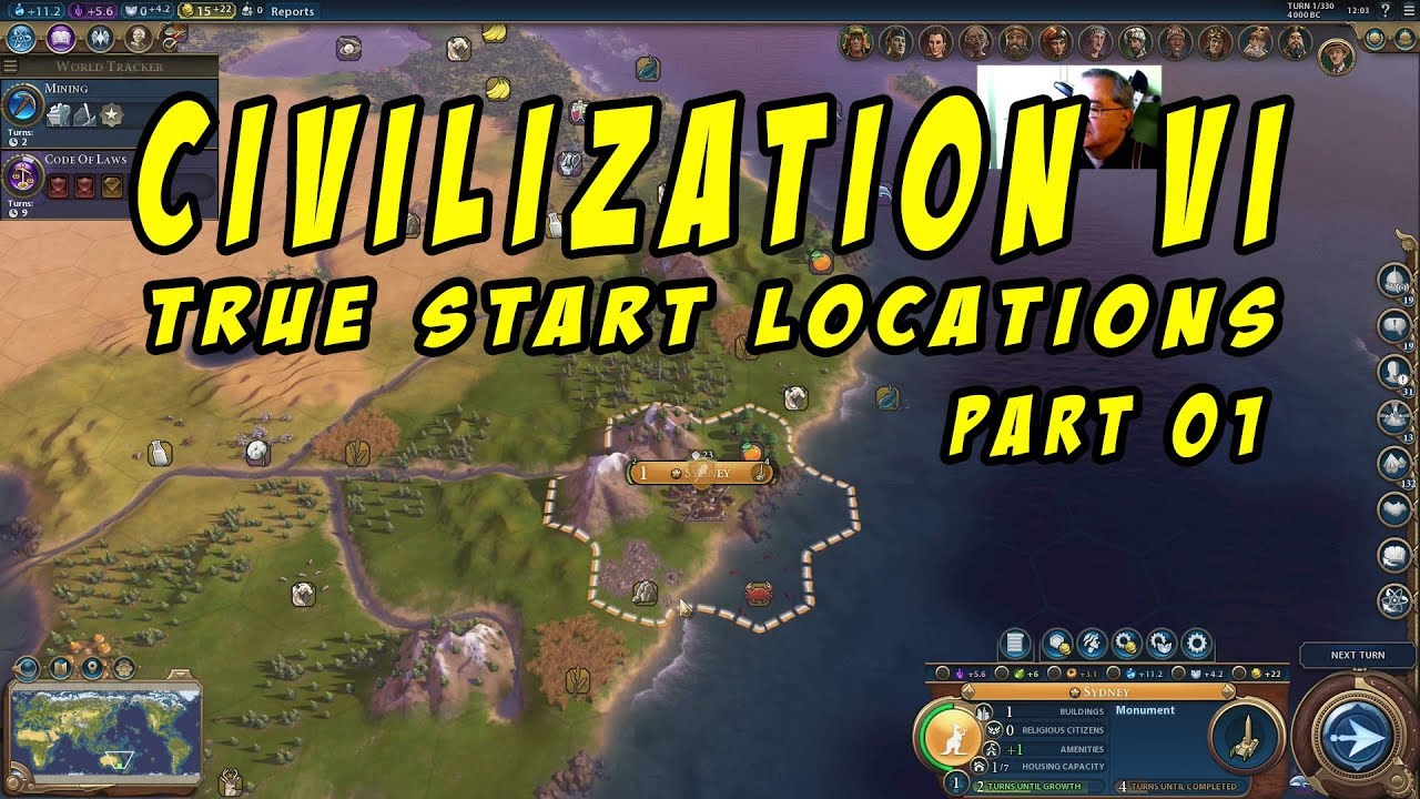 Civilization 6 True Start Locations Part 01