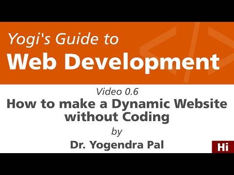 How to Make a Dynamic Website without Coding | Yogi